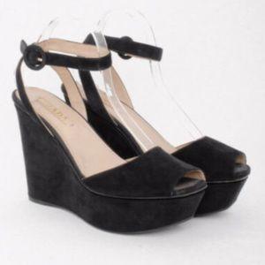 Authentic Prada Peep Toe Platform Sandals size 39
